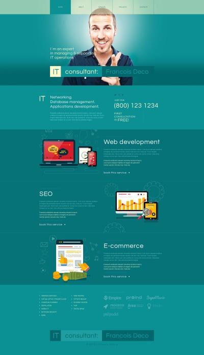 MotoCMS HTML шаблон №54665 на тему информационные технологии