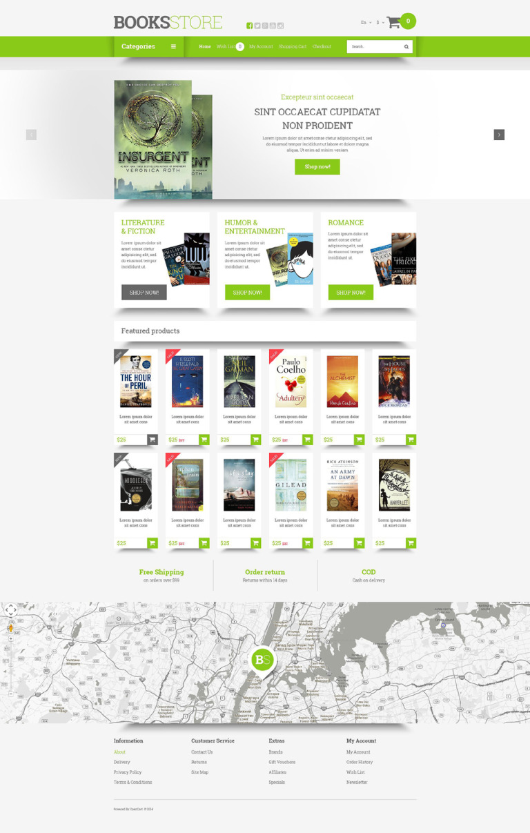 Online Literature Orders OpenCart Template New Screenshots BIG