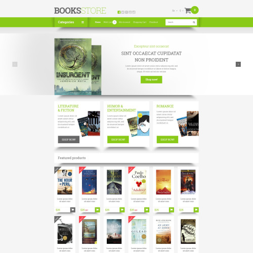 Books Store - OpenCart Template based on Bootstrap