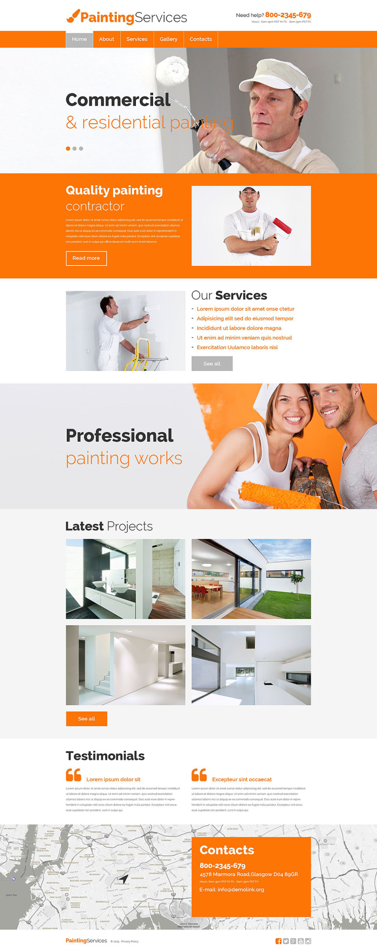 Painting Services Website Template New Screenshots BIG