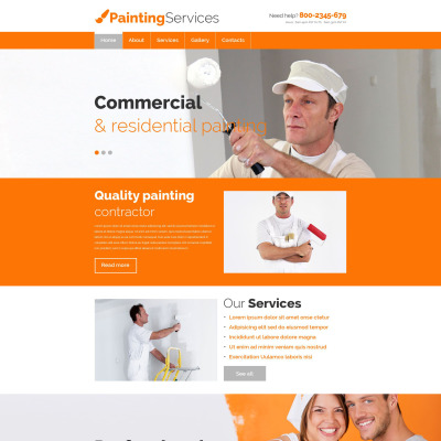 Painting Company Website Templates
