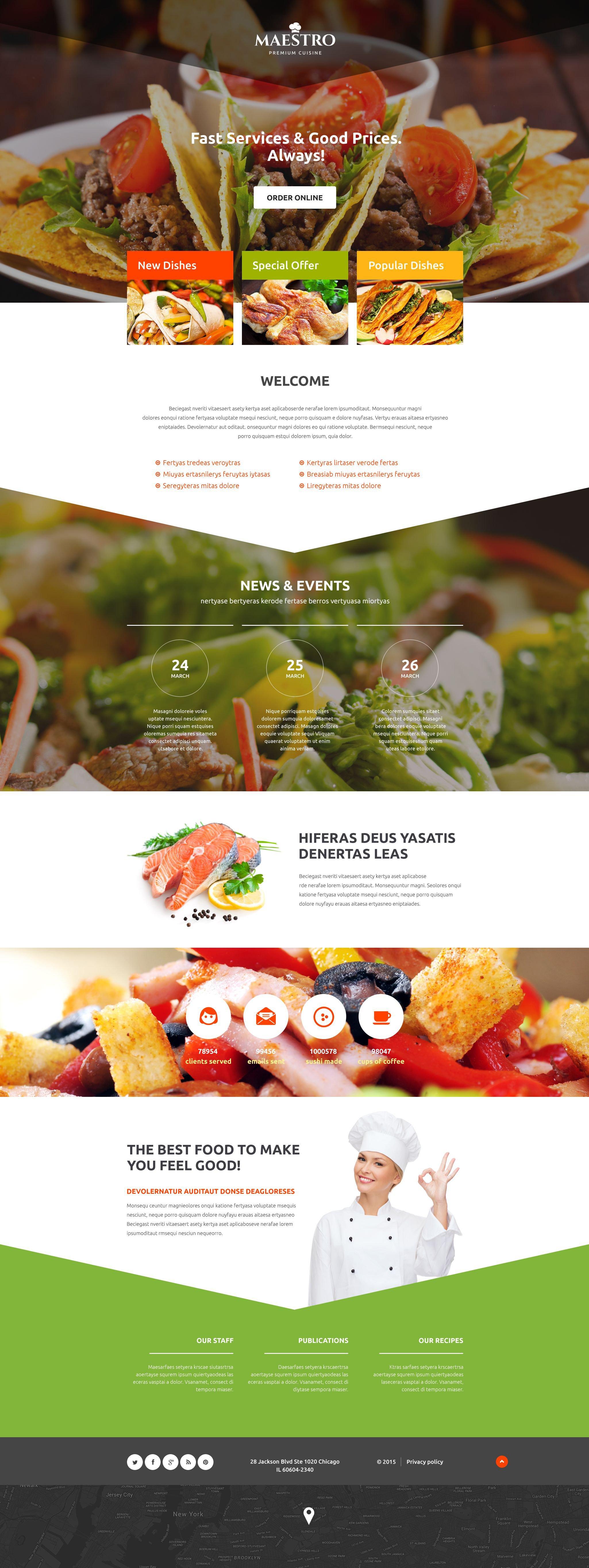 Plantilla para Página de Aterrizaje #54662 para Sitio de Cafeterías ...