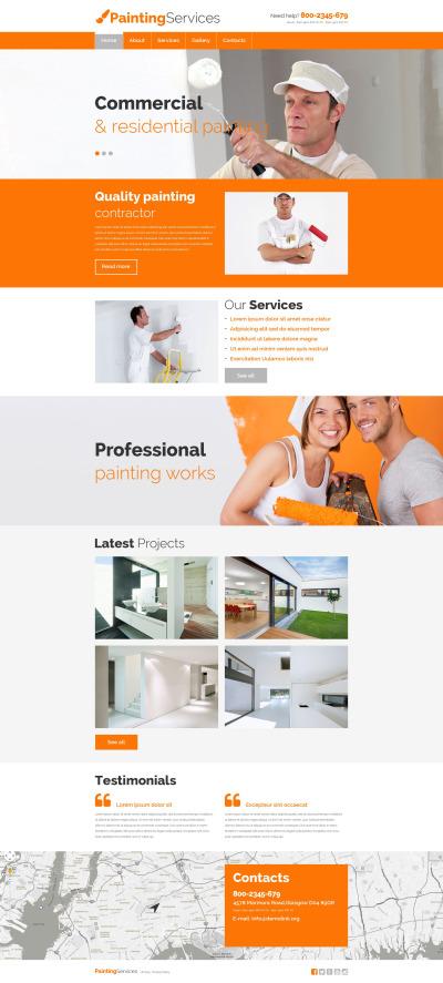 Responsive Plantilla Web #54649 para Sitio de  para Sitio de Empresas de pintura