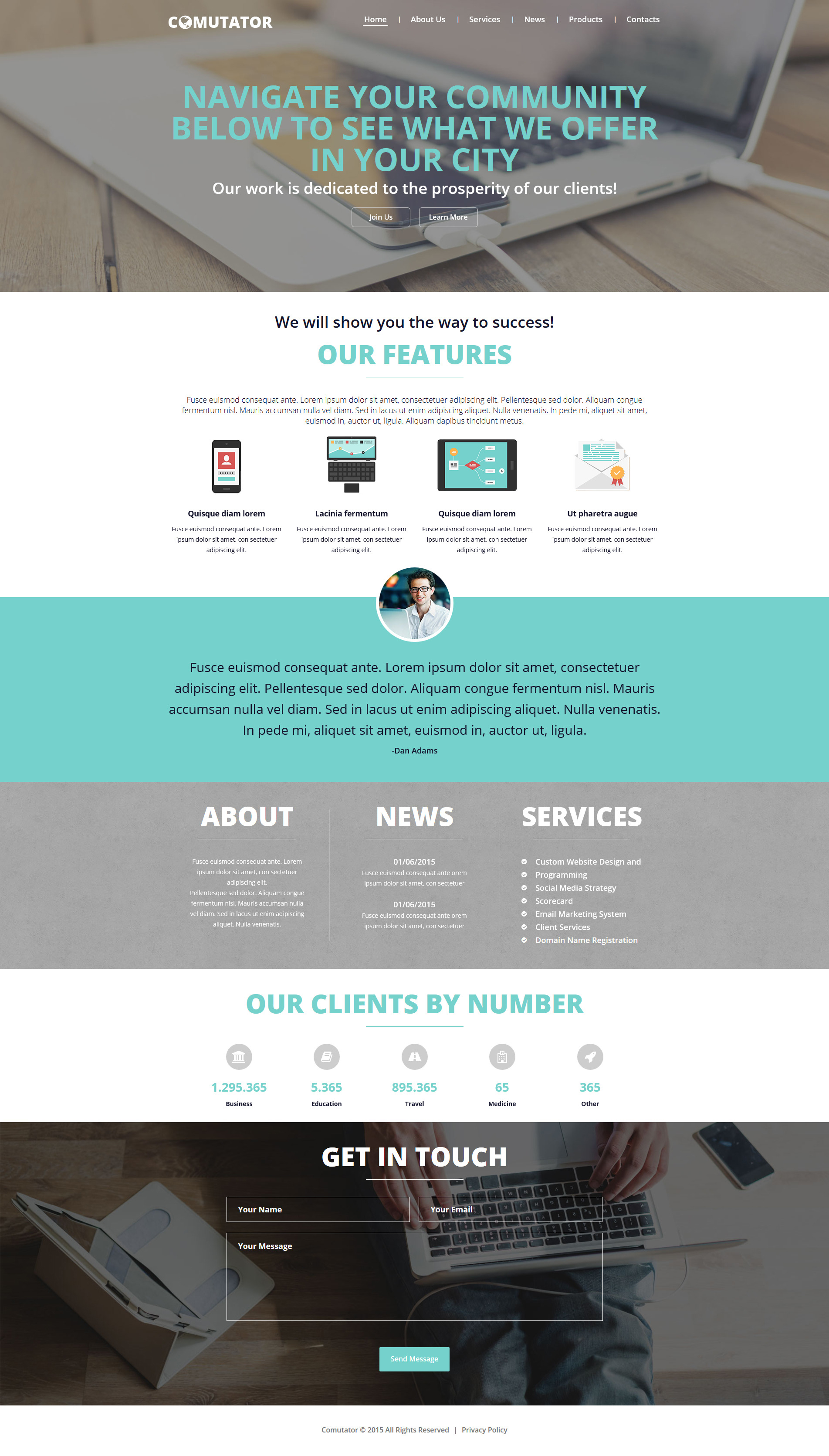 Powerful Communications Joomla Template