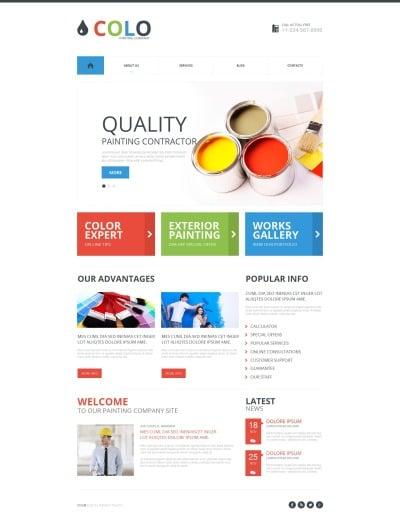 Painting Company Responsive Moto CMS HTML Sablon