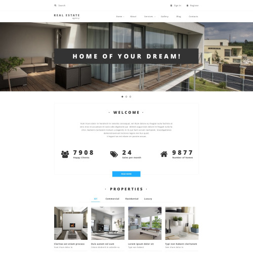 Real Estate - Real Estate Agency Drupal Template