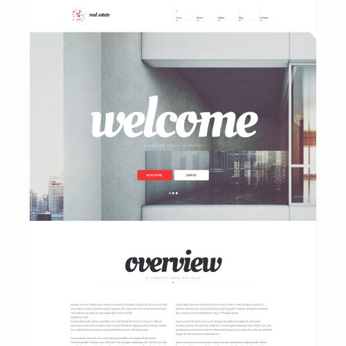 Real Estate  - WordPress Template based on Bootstrap