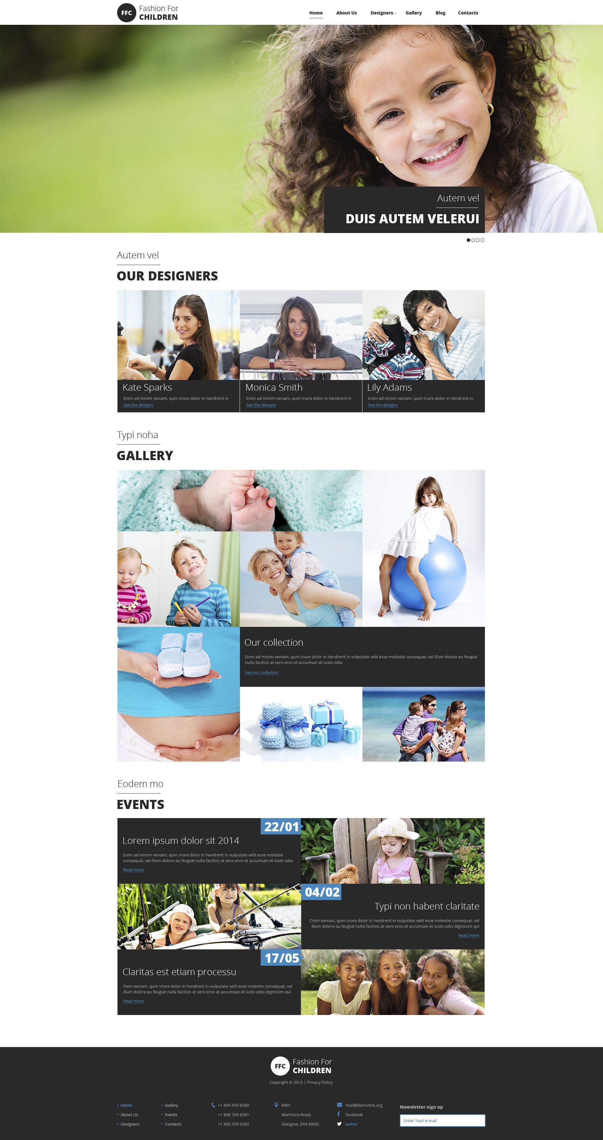 Responsive Drupal Vorlage für Babyshop #54610