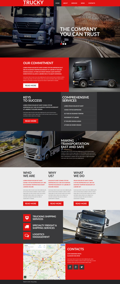 Trucking Responsive Moto CMS 3 Template