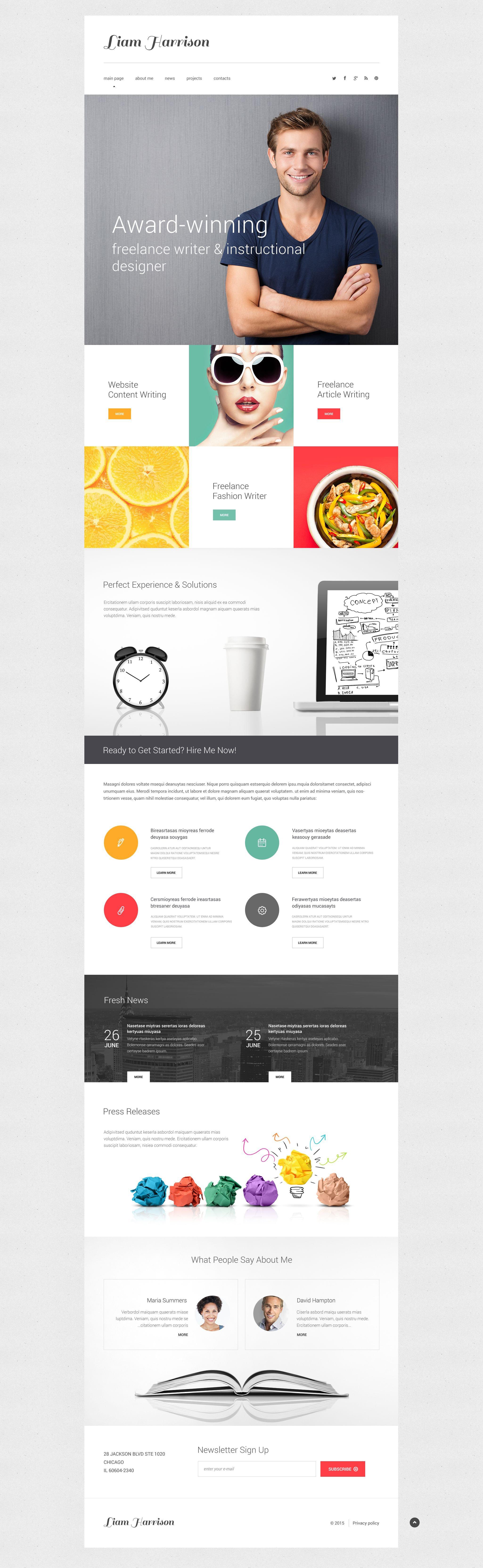 Erfreut Vorlagen Websites Zeitgenössisch - Beispiel Business ...