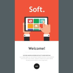 software company responsive newsletter template - Newsletter Templates