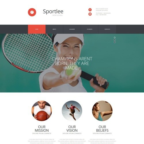 Sportlee - MotoCMS 3 Template based on Bootstrap