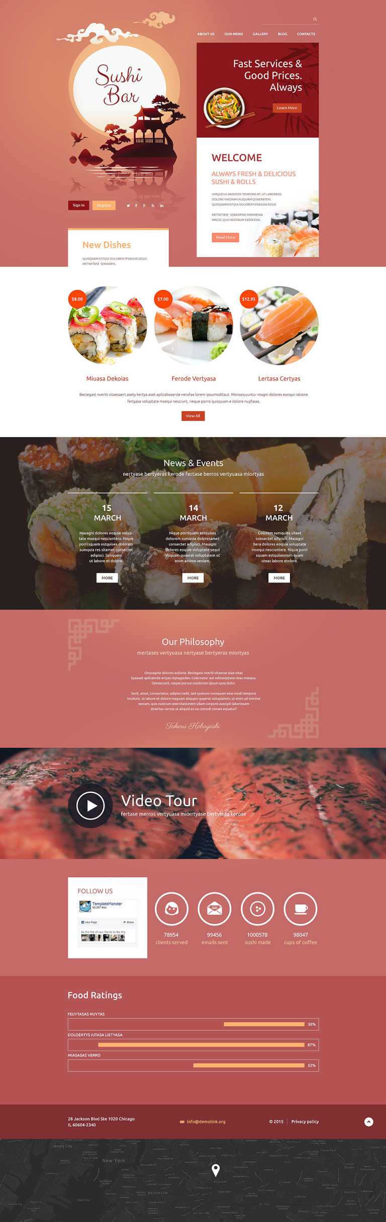 Sushi Bar Drupal Template New Screenshots BIG