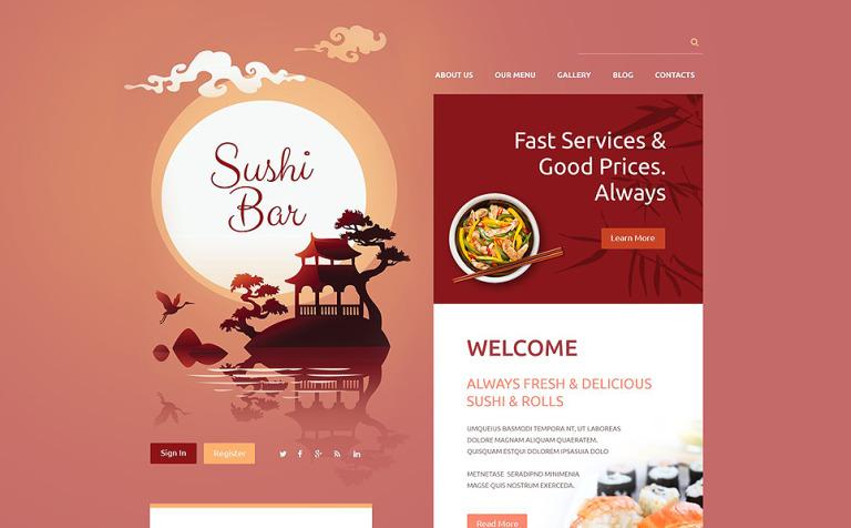 Sushi Bar Drupal Template