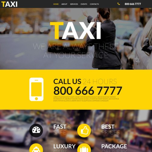 Taxi - MotoCMS 3 Taxi Services Template