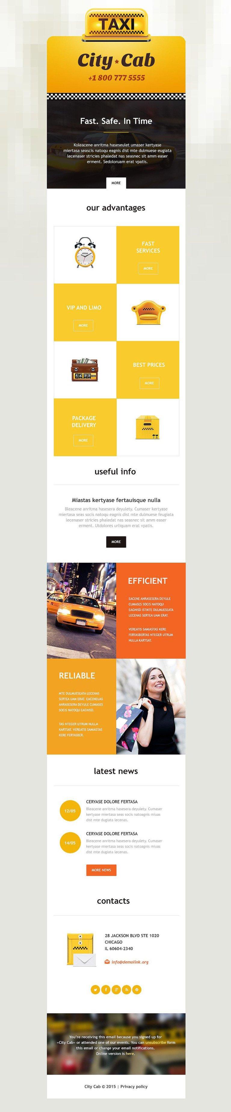 Taxi Responsive Newsletter Template New Screenshots BIG