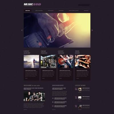 Tema de WordPress #68572 para Sitio de Música