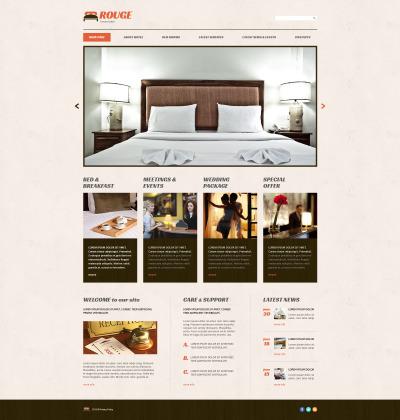Responsive Tema De WordPress #54645 para Sitio de  para Sitio de Hoteles