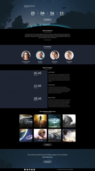 UFO Responsive Template Di Landing Page