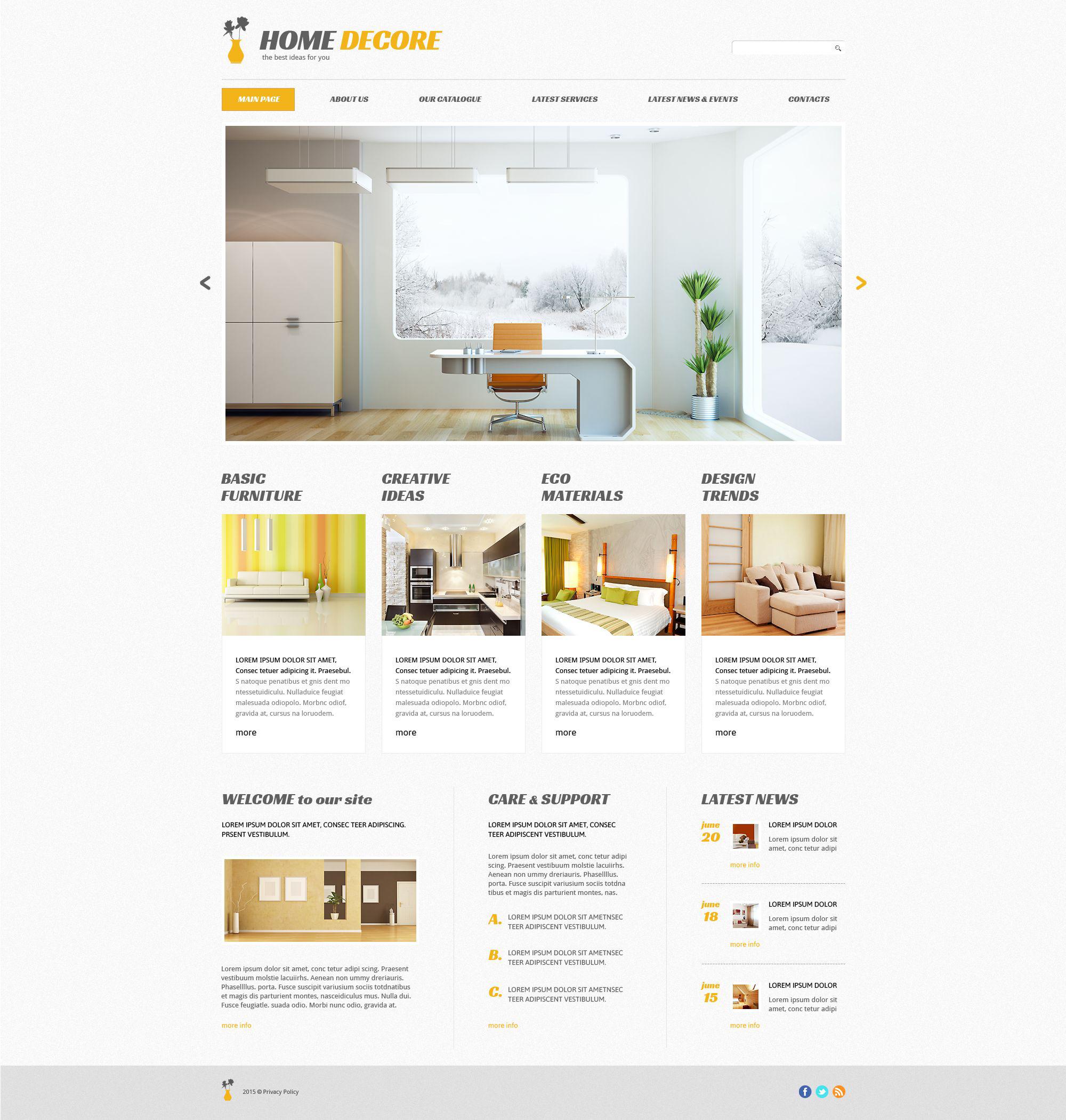 Tema WordPress Flexível Para Sites De Decoração De Casa №54644