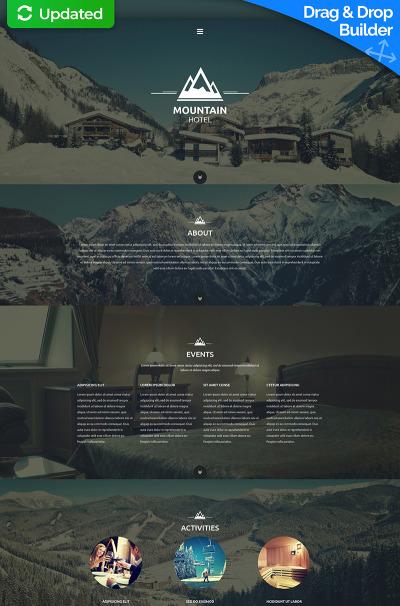Flexível templates Moto CMS 3 №54623 para Sites de Hotéis