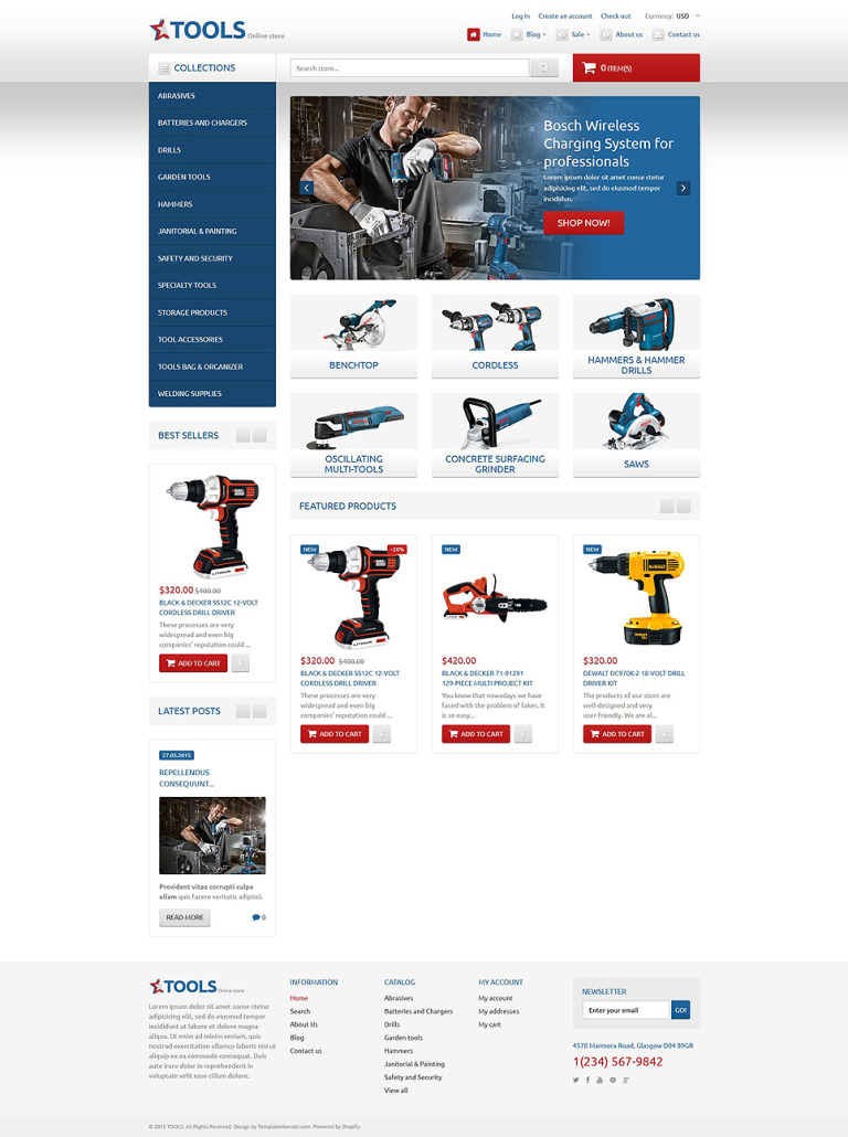 Tools & Equipment Responsive Shopify Theme New Screenshots BIG
