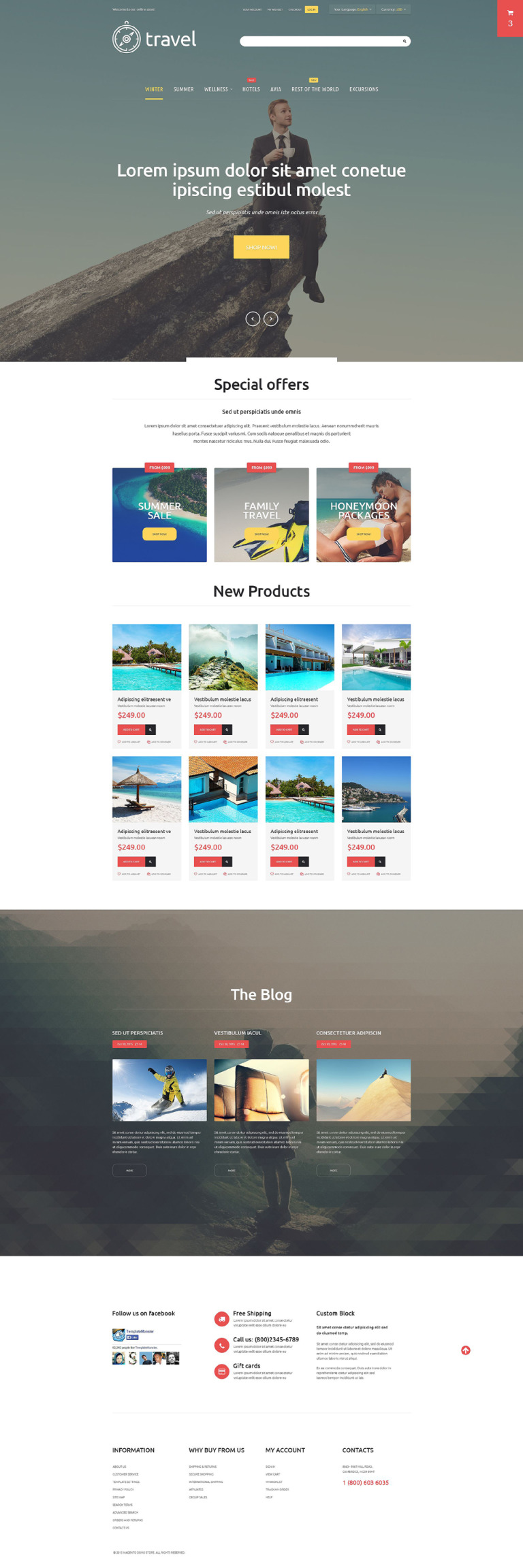 Travelers' Paradise Magento Theme New Screenshots BIG