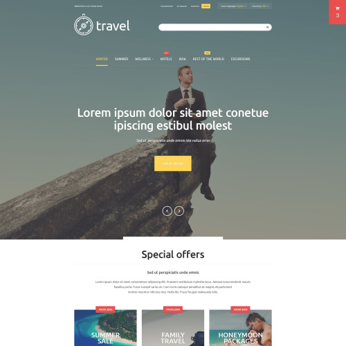 Travel - Magento Template based on Bootstrap