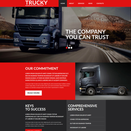 Trucky - MotoCMS 3 Transportation Template