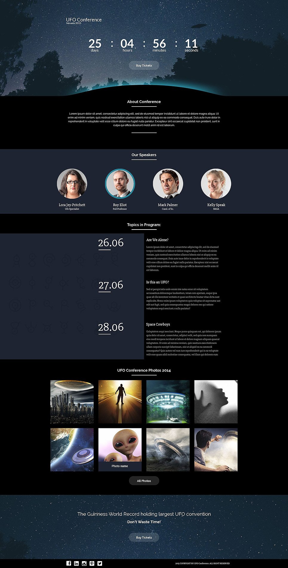 UFO Responsive Landing Page Template New Screenshots BIG
