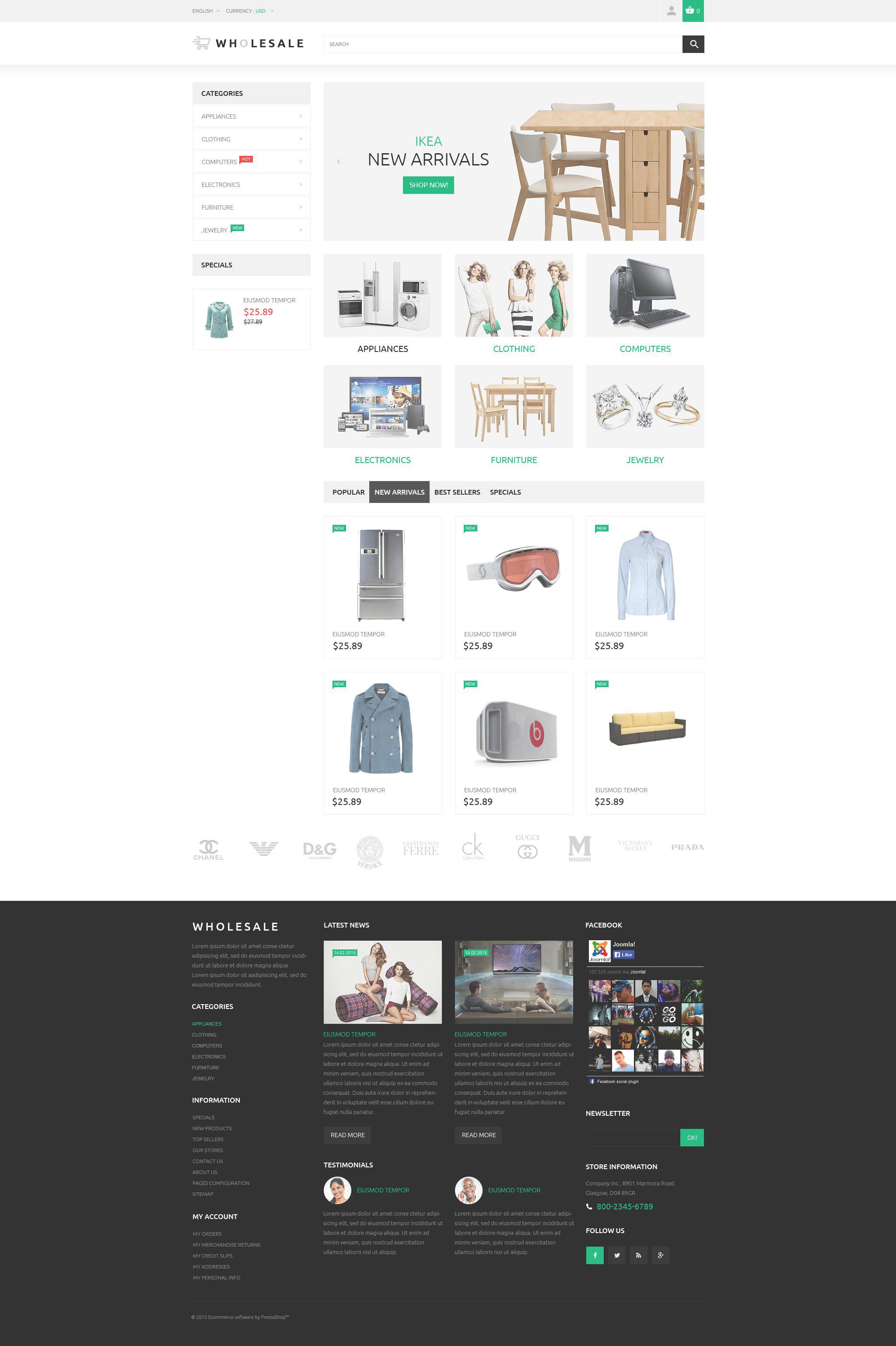 Wholesale PrestaShop Theme