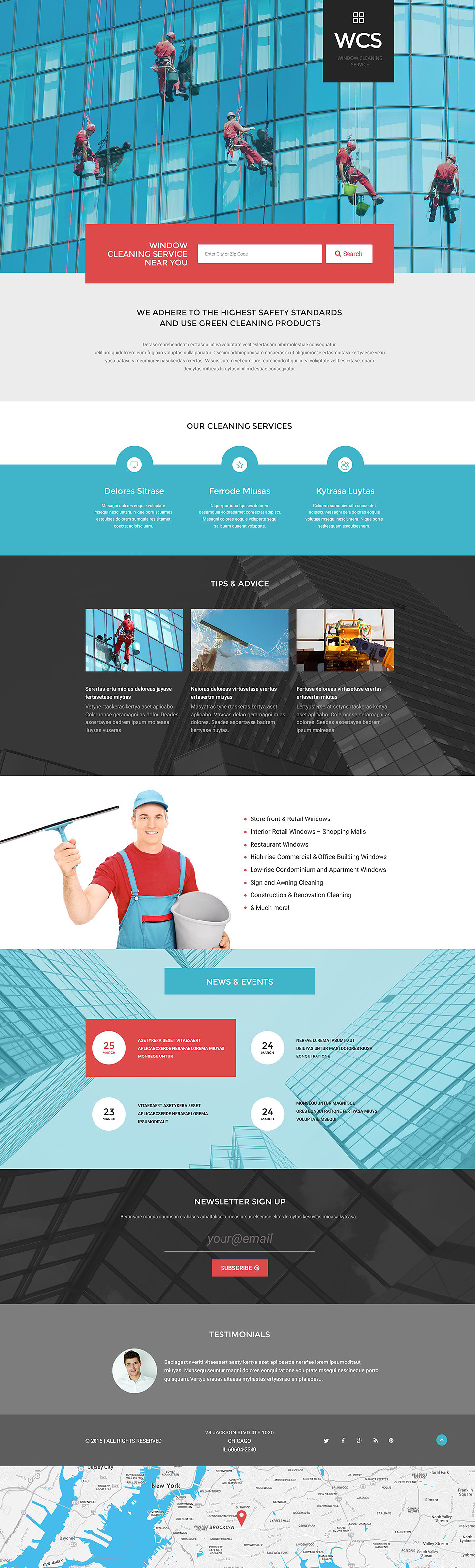 Window Cleaning Responsive Landing Page Template New Screenshots BIG