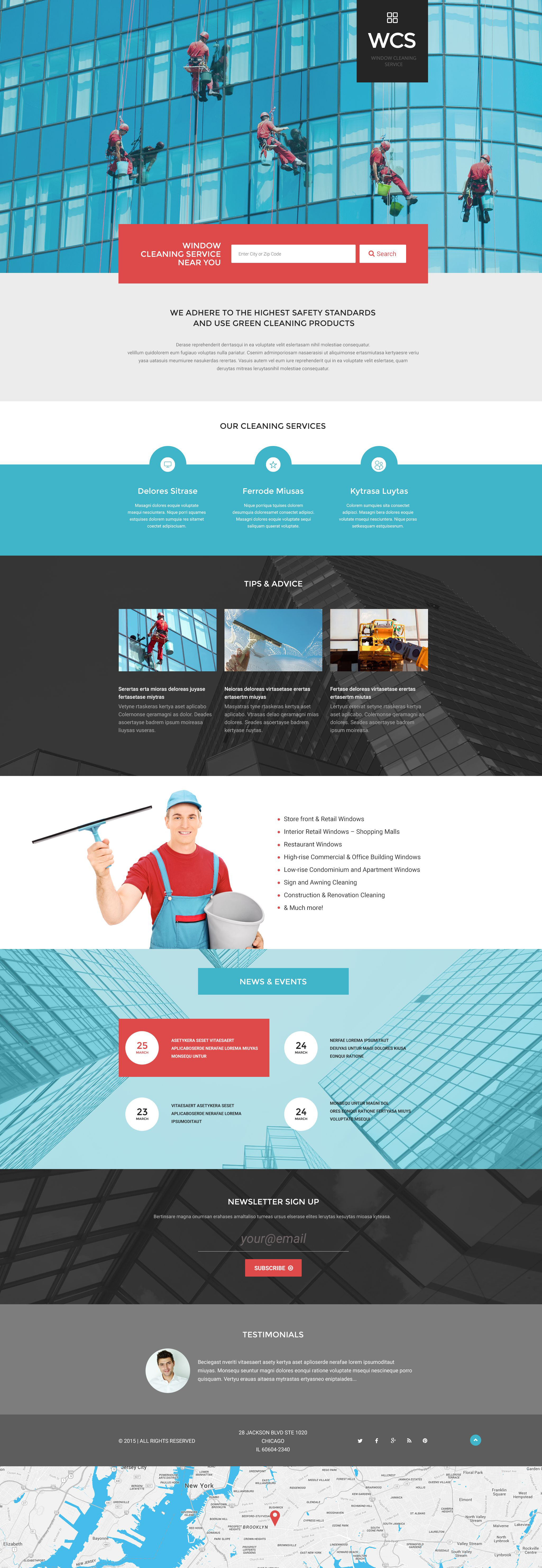 Window Cleaning Responsive Landing Page Template