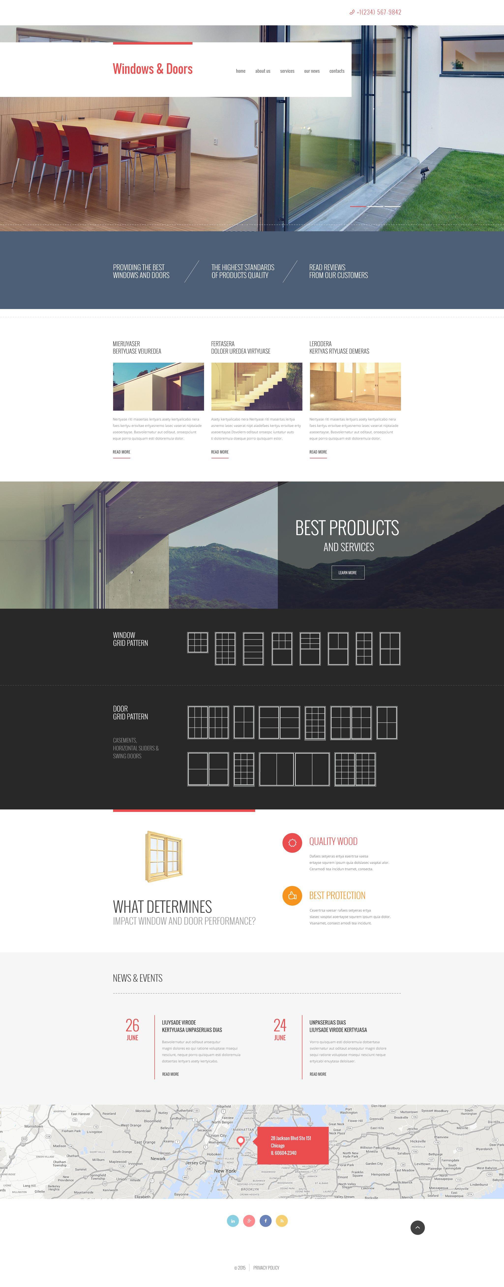 Window Decor Responsive Website Template - screenshot