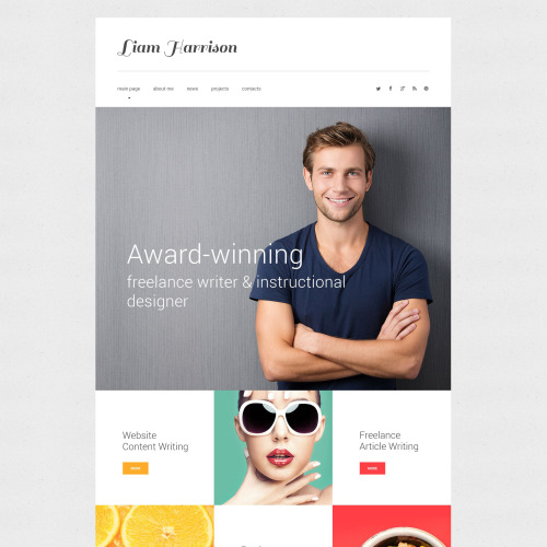 Liam Harrison - Website Template based on Bootstrap