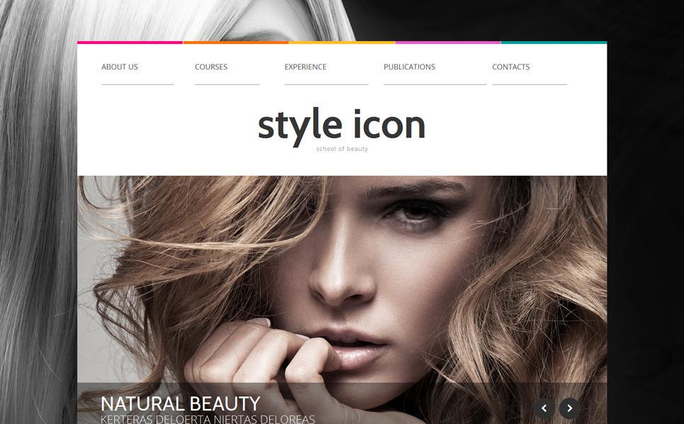 Reszponzív Kozmetikai iskola  Weboldal sablon New Screenshots BIG