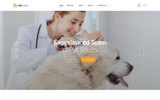 Pet Care - Vet Pet Care Clean HTML Website Template