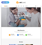 Animals & Pets Website  Template 54704