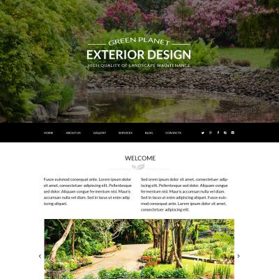 Landskapsdesign Responsivt Joomla-mall