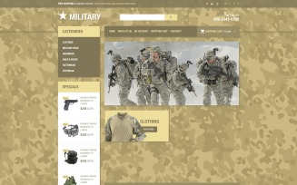 Military Star OpenCart Template