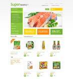 Food & Drink osCommerce  Template 54713