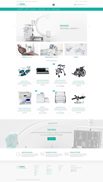 Zen-cart Main page preview