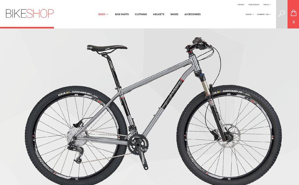Reszponzív Kerékpárboltok PrestaShop sablon New Screenshots BIG
