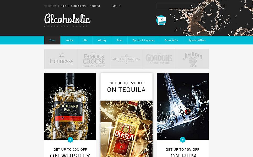 """Tema ZenCart Responsive #54720 """"Negozio di Bevande Alcoliche"""" New Screenshots BIG"""