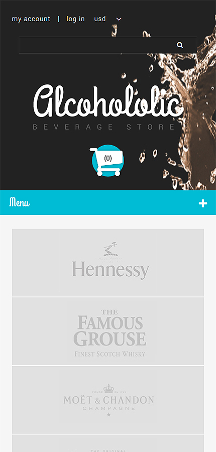 ZenCart Template 54720 Main Page Screenshot