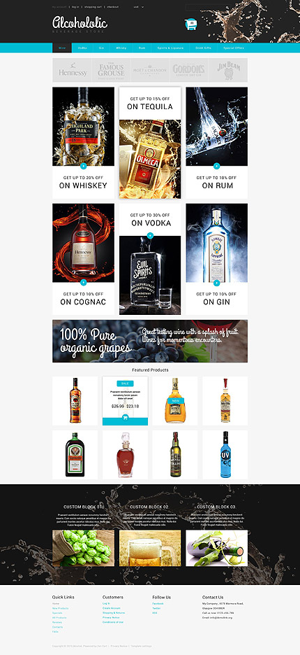 Food & Drink ZenCart Template 54720, ZenCart Templates - Zeronese