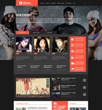 Entertainment WordPress Template 54729