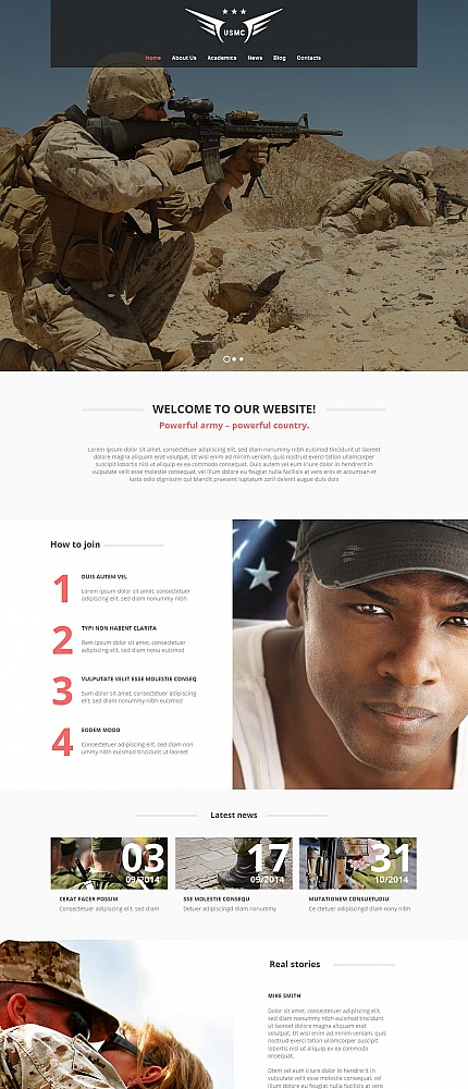ADOBE Photoshop Template 54748 Home Page Screenshot