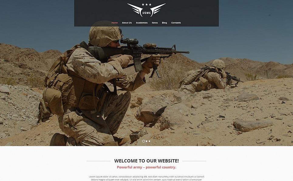 Plantilla Moto CMS HTML #54748 para Sitio de Militar New Screenshots BIG
