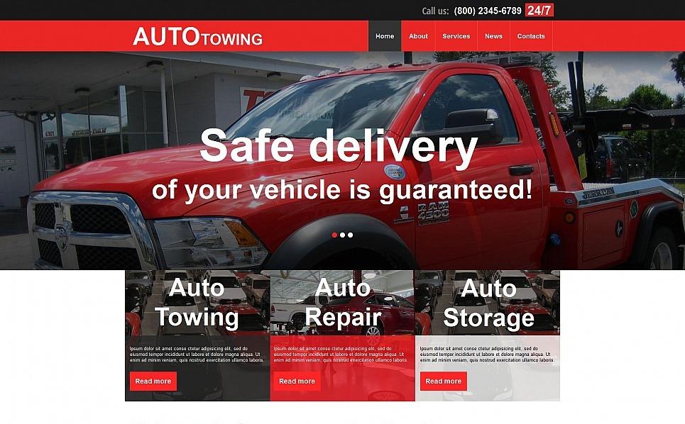 Premium Moto CMS HTML Template over Auto trekken New Screenshots BIG